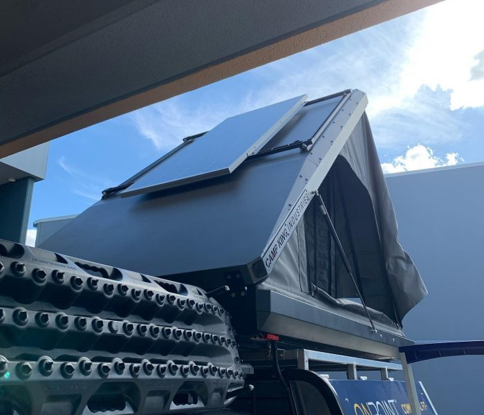 solar panel on camp king tent